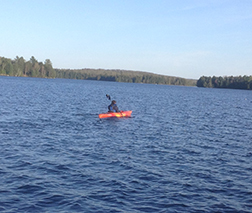 Kayaking on Deer Lake