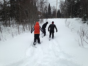 We had to snowshoe in to see our property
